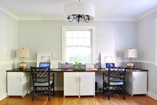 We Love That Its Clean And Understated From Afar Because Someday Plan To Drop A Huge Chandelier Over The Dining Table Didnt Want Office