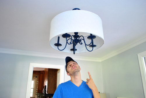 Upgrading An Old Chandelier With Paint Amp A New Shade