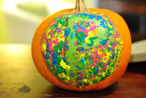 Four No-Cut Pumpkin Decorating Ideas For Kids | Young House Love