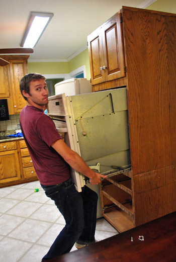 Moving Cabinets Around & Removing Granite Counters | Young House Love