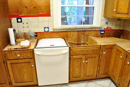 Dishwasher Countertop Protector : Kitchen Reno: Removing Our Sink & Our Old Granite Counters Young ...