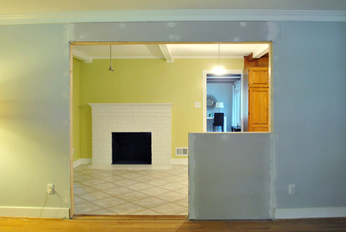 How To Trim Out A Cased Opening And A Half Wall | Young House Love