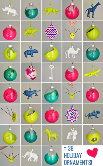 and heres how i made each type - How To Make Homemade Christmas Ornaments