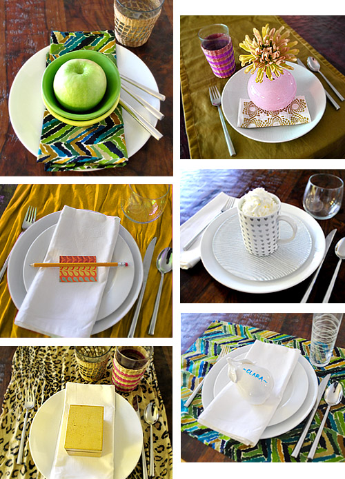 Last Minute Thanksgiving Table Settings   Young House Love