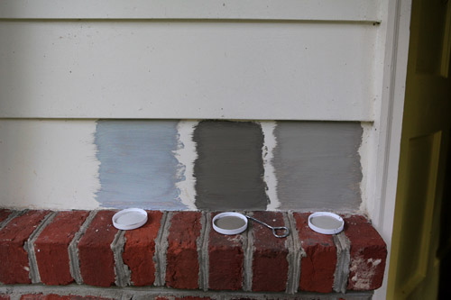Picking A New Siding Color By Painting Some Test Swatches Young - Colors for red brick houses with siding