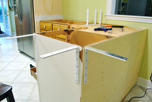 Countertop Height Overhang : Prepping For Corian Counter Installation Young House Love