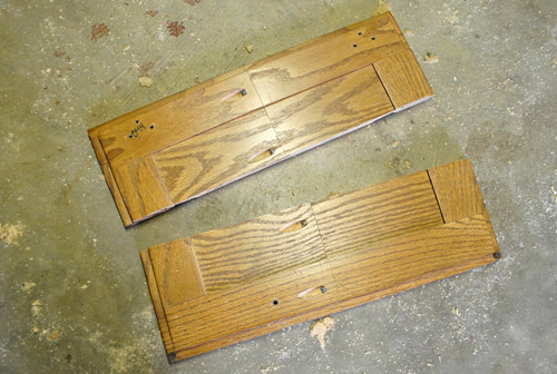 Cutting Down A Few Cabinet Doors To Fit Young House Love - Cut kitchen cabinets to fit refrigerator