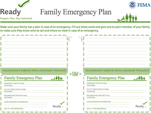 Family Emergency Plan Home Ready Gov Family Emergency Plan OtherFamily Emergency Plan Template