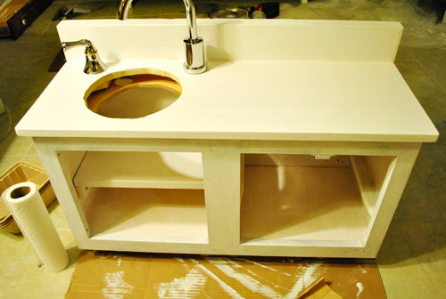 How to make a homemade play kitchen from a cabinet - Grifos de cocina ikea ...