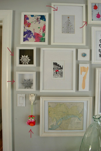 22 easy and free holiday art ideas - Easy Change Artwork Frames