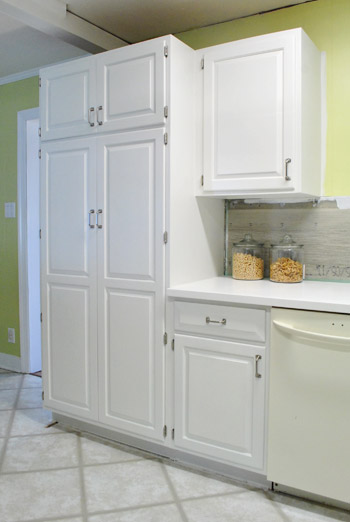 paint kitchen cabinets tall pantry cabinet
