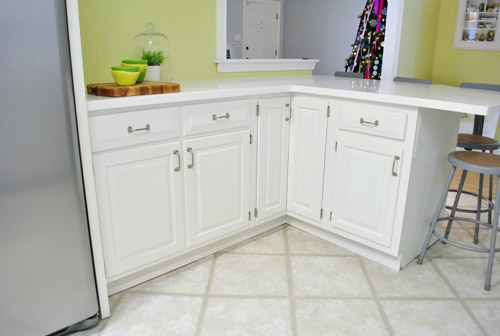 Great paint kitchen cabinets peninsula