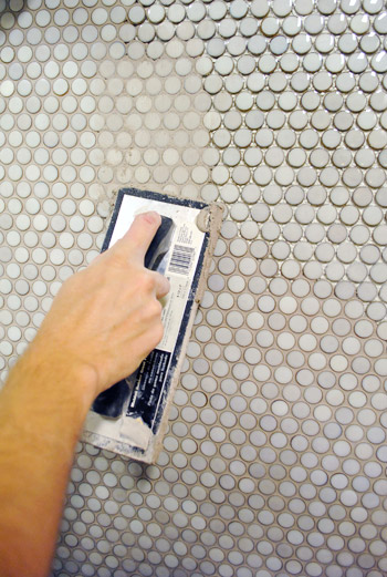 how to take out grout from tile