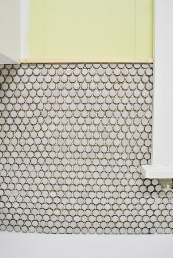 How To Install Penny Tile And Lots Of It Young House Love - Cheap penny round tile