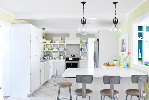 How To Spray Paint A Pendant Lights Cord Canopy Young House Love - Kitchen pendant lighting over peninsula