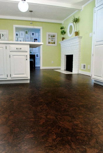 Gallery For Dark Cork Flooring Kitchen