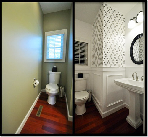 Reader redesign ka powder room young house love Redesigning small bathrooms