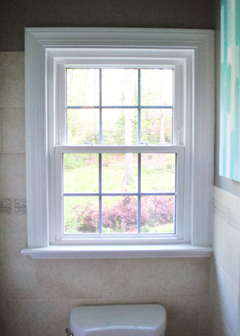 Bathroom Windows how to frost a window with frosting film (& determination) | young