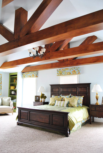 House crashing john and sherry plus 8 young house love Master bedroom ceiling beams
