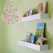 Creating Homemade Book Ledges