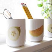 Decoupaging Decorative Cups