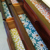 Lining Drawers With Bright Paper