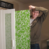 Hiding Storage With Gift Wrap