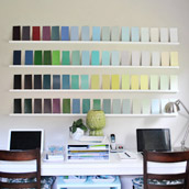 Creating A Paint Swatch Wall