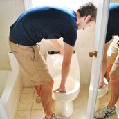 Swapping Out A Dated Toilet