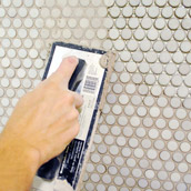 Grouting Penny Tile