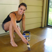 Staining A Concrete Floor