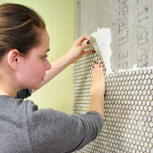 Installing Penny Tile