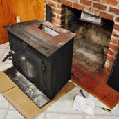 Removing An Old Wood Stove
