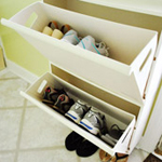 Repurposing For Shoe Storage