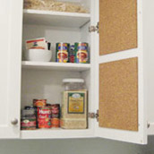 Creating An In-Cabinet Pin Board