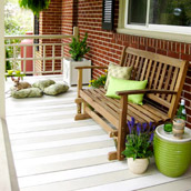 Painting A Striped Porch