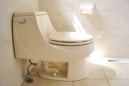 switching out a toilet