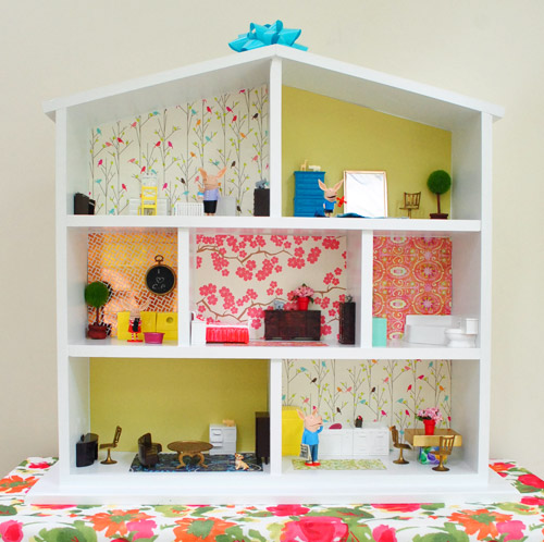 How to build a dollhouse part 2 decorating it young for Young house love dollhouse