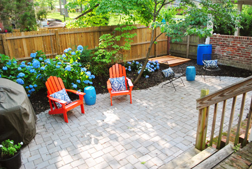 Cute Adding Bright Red Adirondack Chairs To Our Side Patio Young House Love