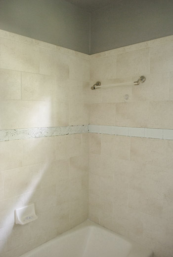 Replacing Old Shower Border Tiles Young House Love - Update bathroom tile without replacing