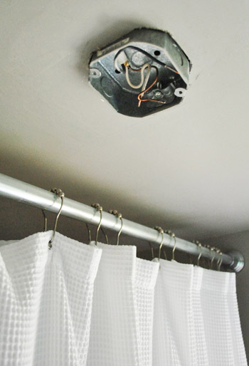 How to move a ceiling light to center it young house love how to move a ceiling light to center it aloadofball Images