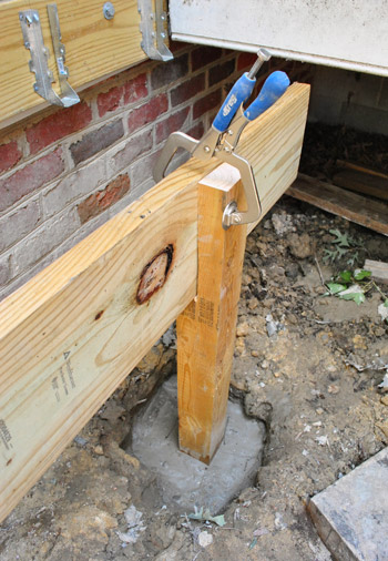 How To Build A Deck Posts Notches Amp Frogs Young House