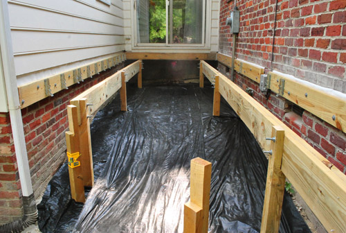 How To Build A Deck Adding The Joists Young House Love