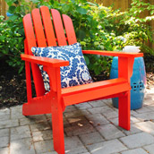 Adding Cheery Outdoor Seating