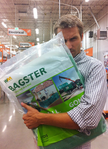 Our Adventures In Renting A Bagster Dumpster | Young House ...