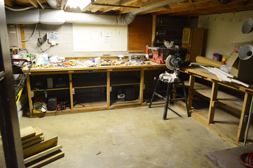 Man Cave Yard Sale Facebook : Adding some basement workshop organization young house love