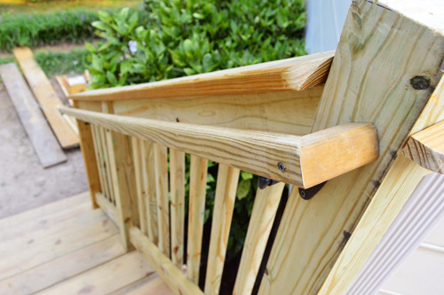 How To Build A Deck Its DONE Young House Love - Building deck stairs railing