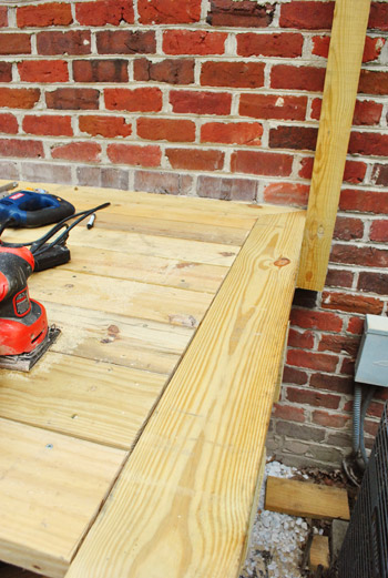 Picture Framing Deck Boards ~ How to build a deck almost there young house love