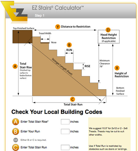 Stair calculator « bc log stair and rail inc.
