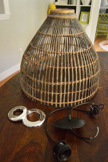 basket pendant light. I\u0027m Sure You\u0027re Wondering What Those Silver Donut-looking Things Are, So Allow Me To Explain. They\u0027re Actually Pipe Plates From The Hardware Store For $3 A Basket Pendant Light E